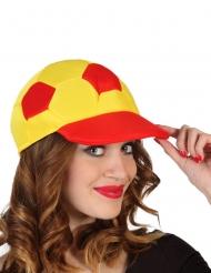 Fankappe Spanien-Mütze für Erwachsene gelb-rot