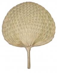Fächer in Natur-Optik Accessoire für Fasching beigefarben 34 x 31 cm