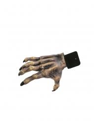 Authentische Zombie-Hand Halloween-Deko Partyzubehör grau-beige 24 cm