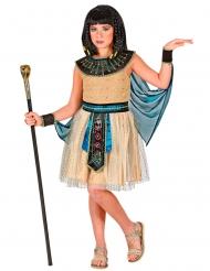 Ägyptisches-Mädchenkostüm Antike-Verkleidung für Fasching beigefarben-schwarz-türkis