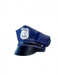 Polizei-Mütze für Kinder Kostüm-Accessoire blau-schwarz