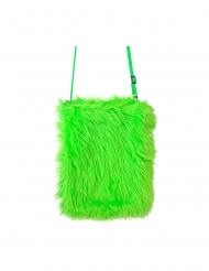 Kuschelige Handtasche Kostüm-Accessoire für Damen grün
