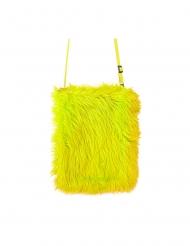 Stilvolle Handtasche mit Kunstfell Party-Accessoire gelb