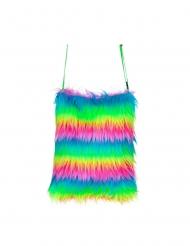 Regenbogen-Tasche Kostüm-Accessoire für Fasching bunt