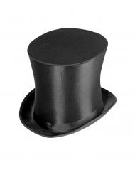 Luxuriöser Zylinder 20er-Kostümaccessoire für Erwachsene schwarz