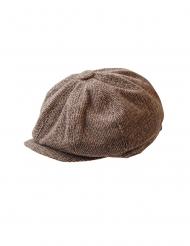 20er-Jahre Schiebermütze Flatcap für Fasching braun