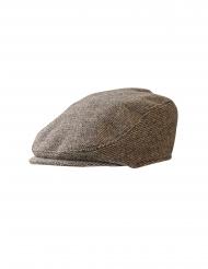 Schiebermütze Vintage-Flatcap für Fasching braun