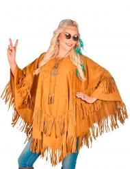 Indianer-Poncho Kostüm-Zubehör für Damen Umhang braun