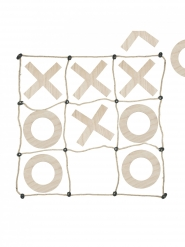 Riesiges Tic Tac Toe-Spiel Partyanimation braun 1 m