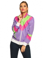 80er-Jacke für Damen Jogging-Weste Bad-Taste