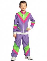 80er-Kostüm für Kinder Jogginganzug lila-grün-pink
