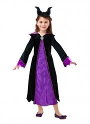 Lizenziertes Maleficent™-Kostüm Disney-Mädchenkostüm schwarz-violett