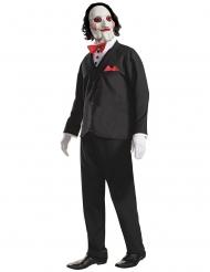 Saw™-Kostüm offizielle Lizenz-Verkleidung Horrorfilm schwarz-weiss-rot