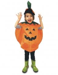Niedlicher Kürbis-Poncho für Kinder Halloween-Verkleidung schwarz-orange-grün
