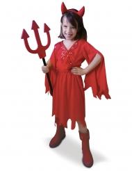 Teufelin Mädchenkostüm mit Pailletten Halloween rot