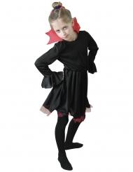 Vampirkostüm für Mädchen Vampirkleid schwarz-rot