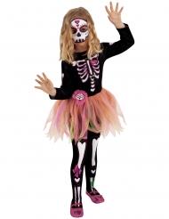 Hübsches Dia de los muertos-Kostüm für Mädchen Halloween-Verkleidung