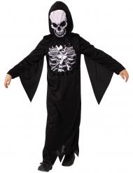 Schauriges-Skelett Jungenkostüm für Halloween schwarz-weiss