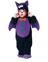 Freches Fledermaus-Kostüm für Kleinkinder Halloween-Verkleidung schwarz-lila-orange
