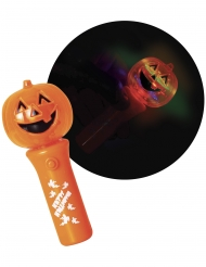 Kürbis-Taschenlampe für Kinder Halloween orange-bunt