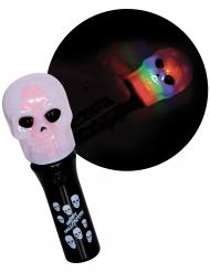 Totenkopf-Taschenlampe für Kinder Halloween schwarz-bunt