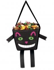 Süßigkeiten-Tasche Grinsekatze für Halloween bunt 17 cm