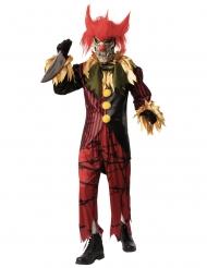 Psychopathischer Horrorclown Herrenkostüm für Halloween bunt