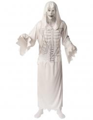 Gespenstischer Horror-Geist Herrenkostüm für Halloween weiß