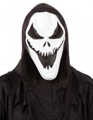 Mörderische Skelett-Maske Erwachsene Halloween-Zubehör schwarz-weiss