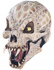 Giftige Klapperschlangen-Maske für Halloween beigefarben