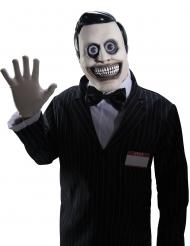 Horrormaske Verkäufer für Halloween Zubehör schwarz-weiss