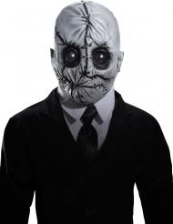 Mr Slim-Latexmaske für Halloween grau-schwarz