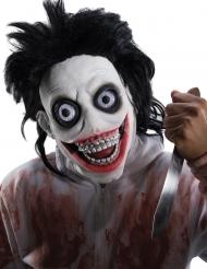 Psycho-Maske Halloween-Zubehör Killermaske schwarz-weiss