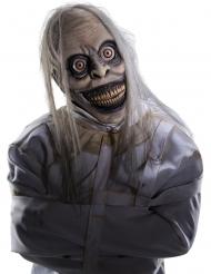 Psycho-Maske aus Latex Halloween-Accessoire grau