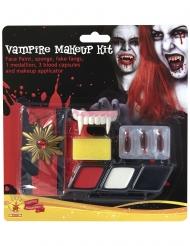 Vampir-Schmink-Set Halloween Zubehör Make-up 9-teilig bunt