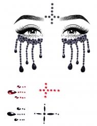 Schaurige Nonnen-Glitzersteine fürs Gesicht Make-up-Zubehör für Halloween