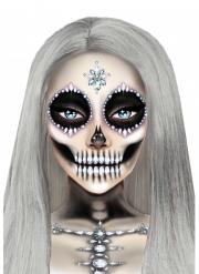 Bezaubernde Skelett-Schmucksteine für Halloween Make-up-Idee bunt