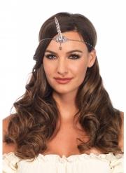 Einhorn-Stirnkette Kopfschmuck-Accessoire für Damen türkis-silberfarben