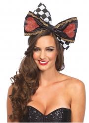Märchenhafte Herzkönigen-Haarschleife für Damen Kostüm-Accessoire bunt