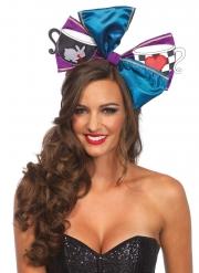 Haarschleife für Damen Alice-Haarschmuck für Fasching bunt
