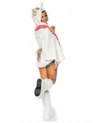 Lama-Tunika Kostüm-Zubehör für Fasching weiss-bunt