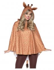 Tierischer Giraffen-Poncho Kostüm-Zubehör für Erwachsene braun-weiss