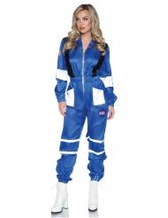 Astronauten-Anzug Damenkostüm für Fasching Weltall blau-weiss-schwarz