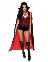Verführerische Vampir-Gräfin Damenkostüm für Halloween schwarz-rot