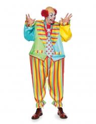 Voluminöses Clownskostüm für Erwachsene bunt