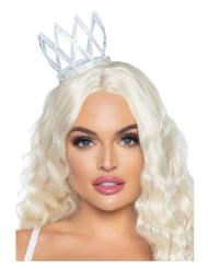 Märchenkrone Accessoire für Damen Kostüm-Zubehör silberfarben
