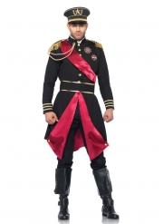 Hochwertiges General-Kostüm Herren-Verkleidung schwarz-rot-goldfarben