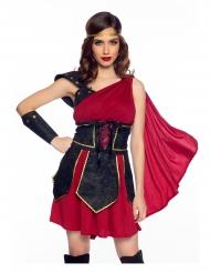 Antikes Gladiatoren-Kostüm für Damen Faschingskostüm rot-schwarz