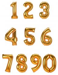 Riesiger Zahlen-Luftballon Folienballon gold 134 cm
