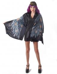 Dunkler Engel Damenkostüm für Halloween mystische-Verkleidung schwarz-grau-braun